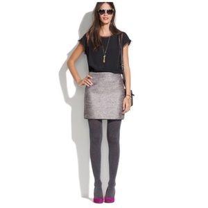 BROADWAY & BROOME Metallic Silver Skirt